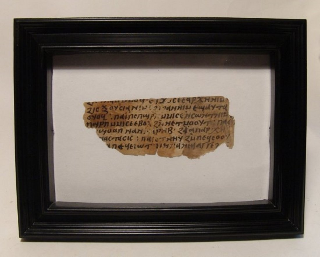 Coptic Liturgical text fragment, Ephesians I on paper