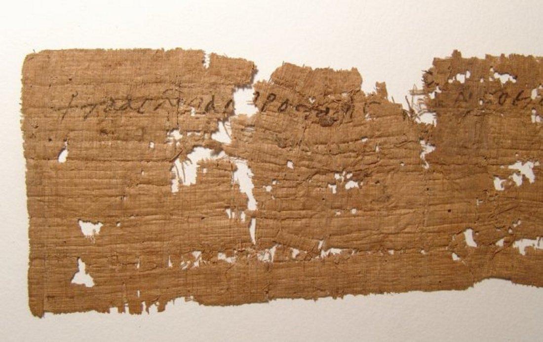 A large papyrus Coptic Christian letter fragment - 6
