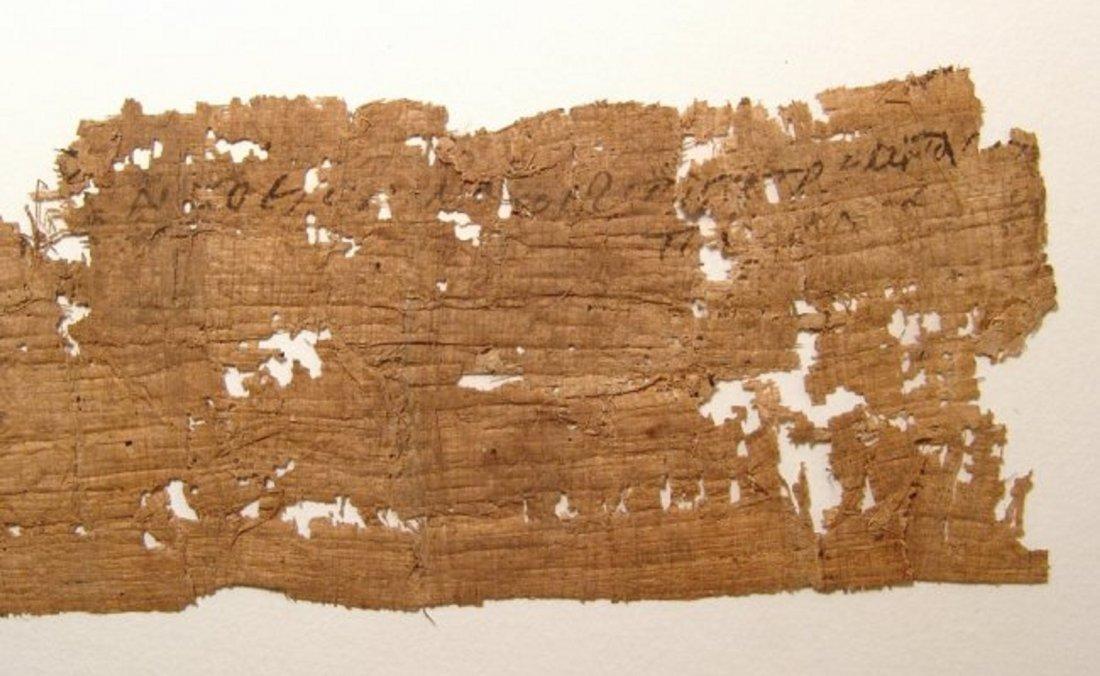 A large papyrus Coptic Christian letter fragment - 7