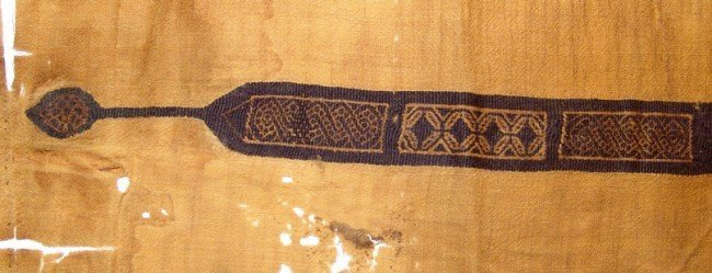 Coptic textile panel with embroidered strip, Egypt - 2
