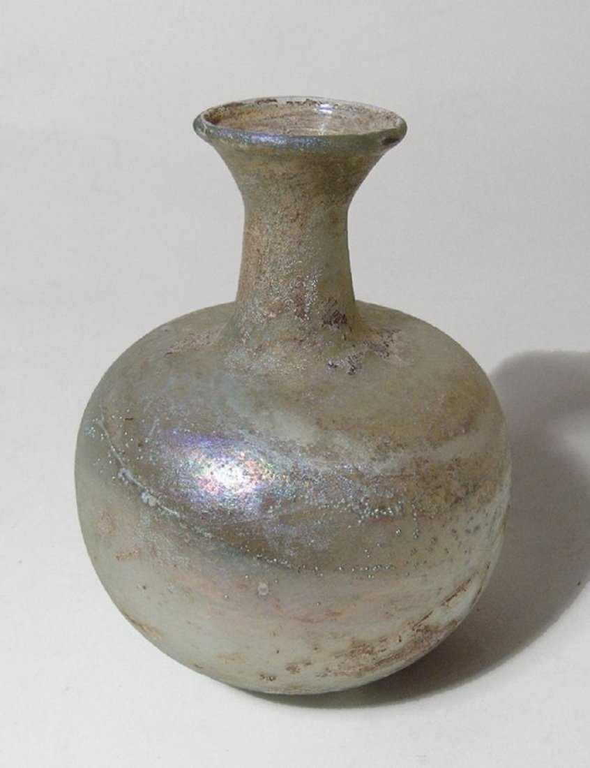 Roman pale yellow glass bottle, Eastern Mediterranean - 2