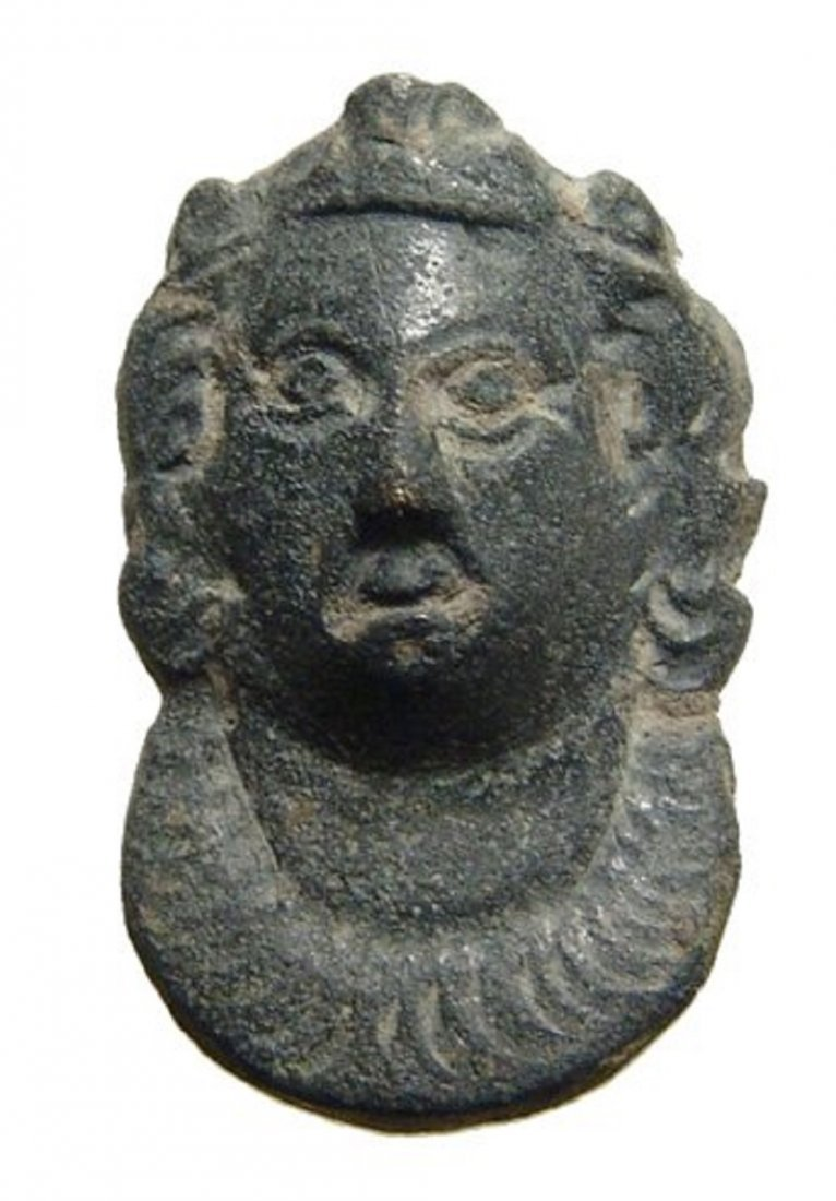 Roman bronze mount or applique in the form of a female