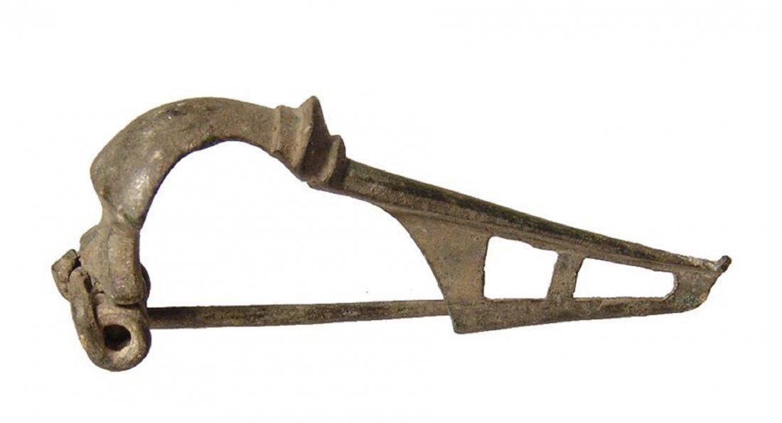 A Roman bronze Kraftig profilierte type fibula
