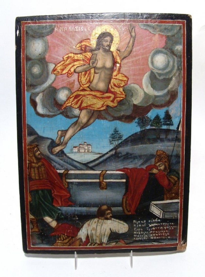 A beautiful traditional Greek icon painted on wood