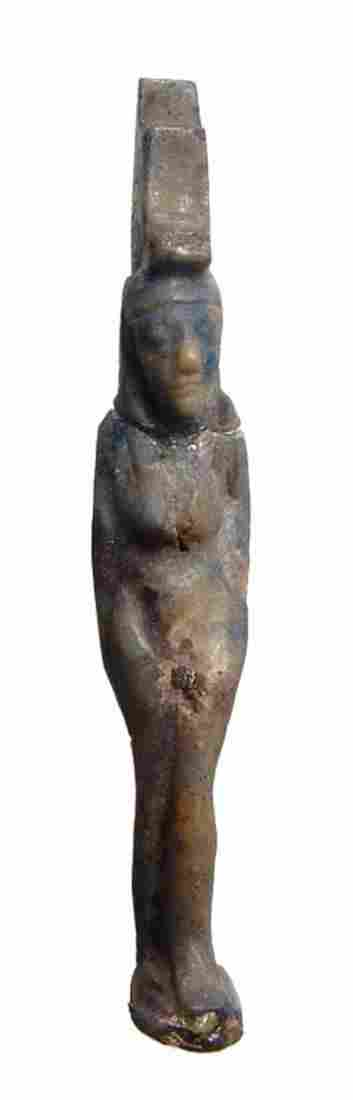 Egyptian lapis and calcite amulet of Isis Late Period