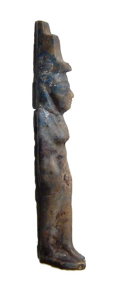 Egyptian lapis and calcite amulet of Isis, Late Period - 3