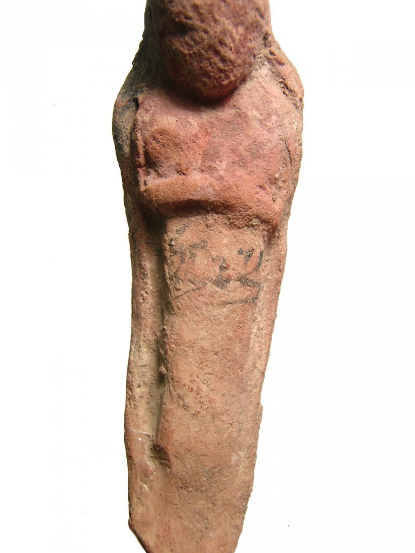 Egyptian terracotta ushabti with Hieratic inscription - 2
