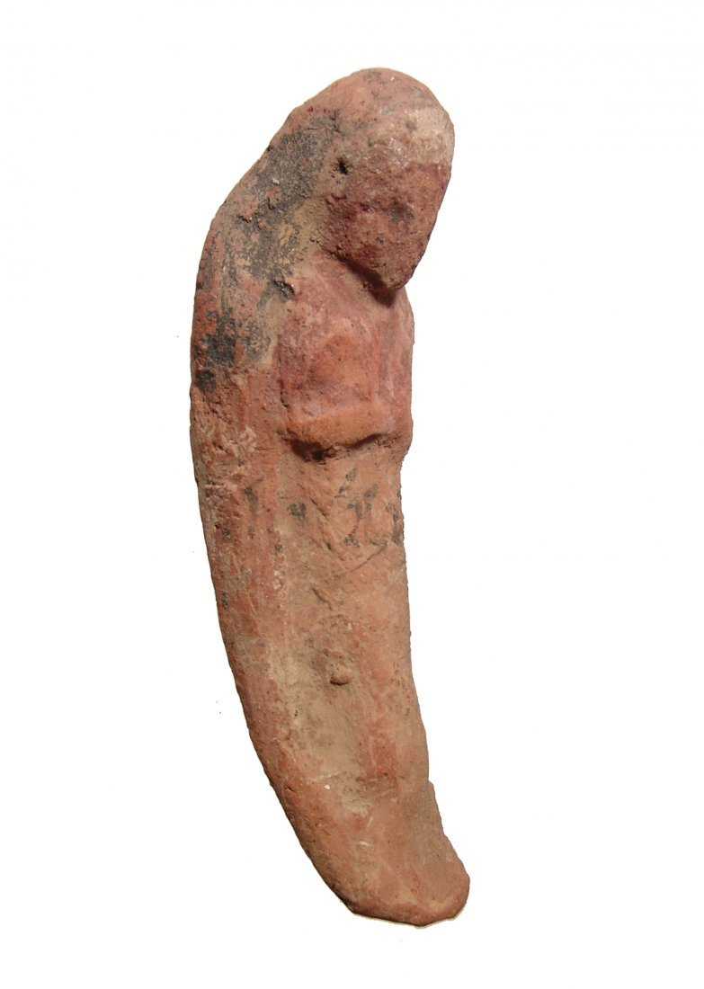 Egyptian terracotta ushabti with Hieratic inscription - 3