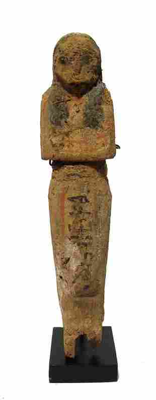 Egyptian wooden ushabti, Late New Kingdom