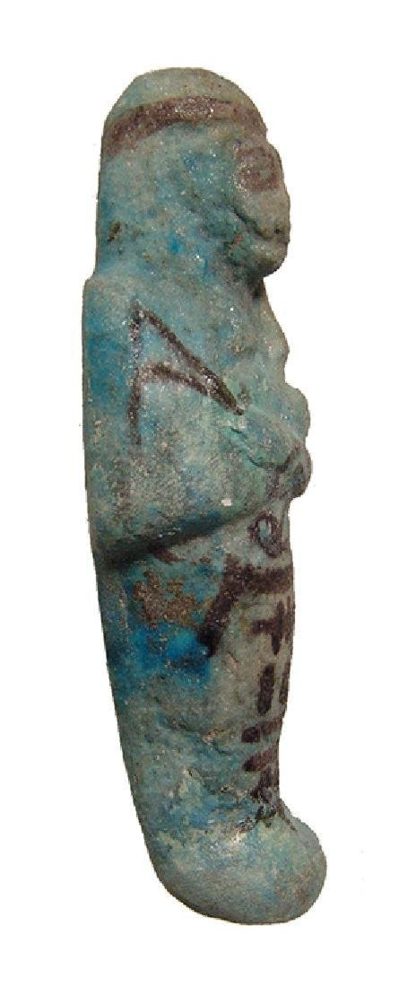 Egyptian bicolor faience ushabti, 3rd Intermediate - 2