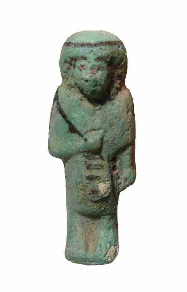 An Egyptian faience Reis or Overseer ushabti