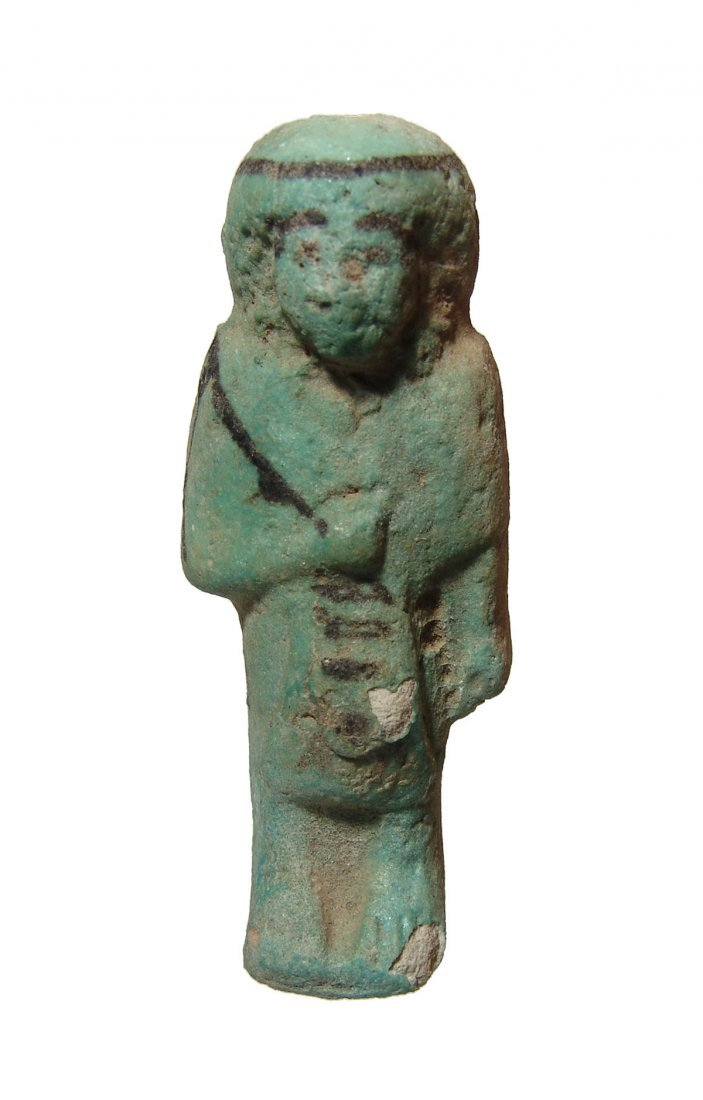 An Egyptian faience Reis or Overseer ushabti