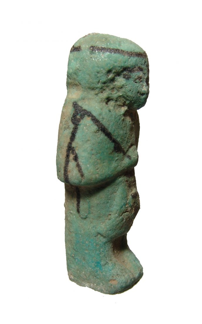 An Egyptian faience Reis or Overseer ushabti - 2