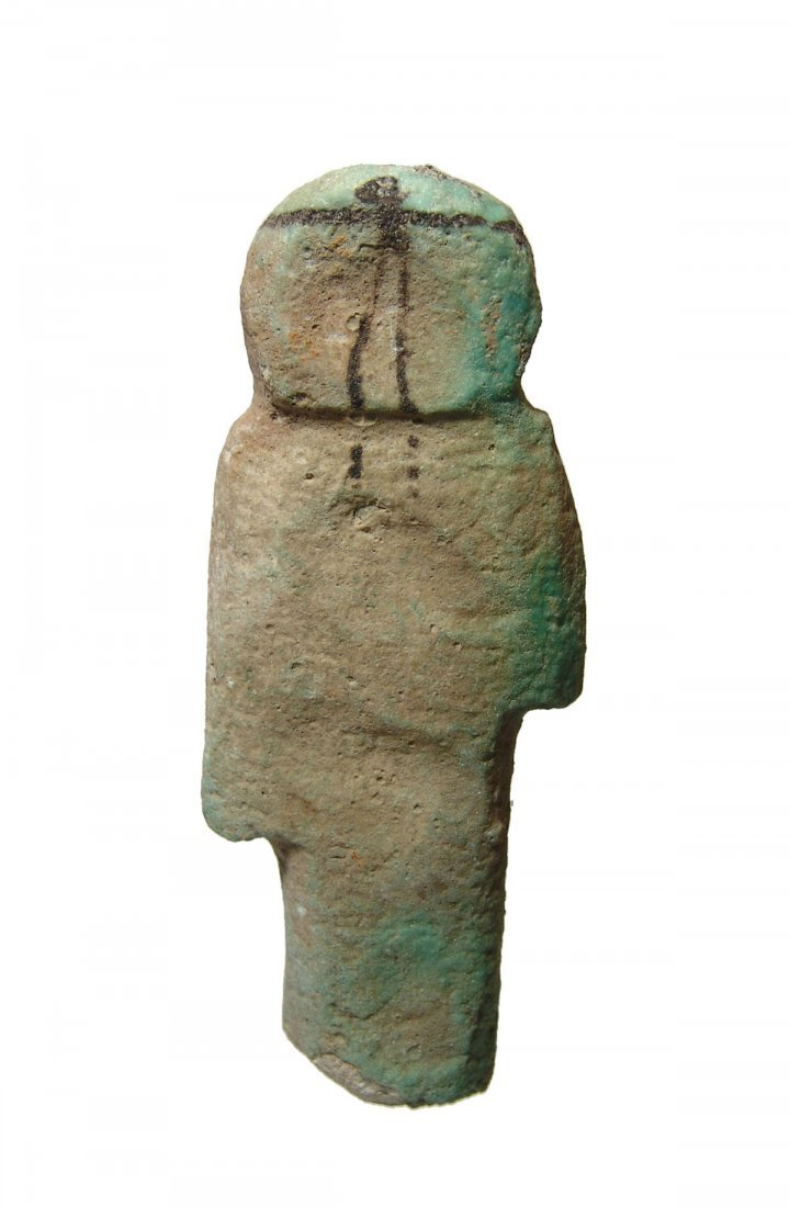 An Egyptian faience Reis or Overseer ushabti - 3