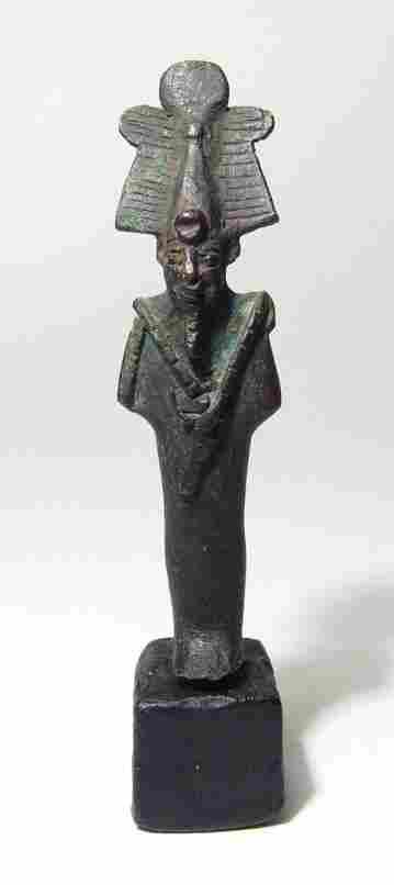 Egyptian bronze figure of Osiris, Late Period