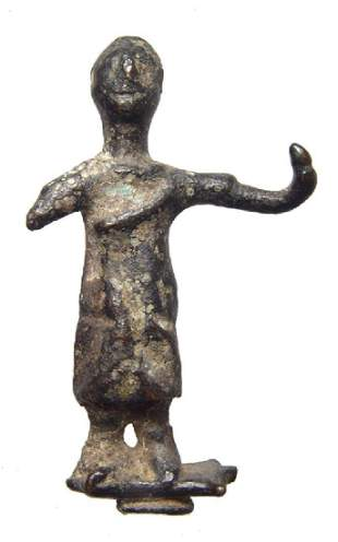 A Roman provincial bronze figure of a man