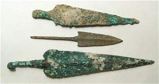 A group of 3 Near Eastern bronze points