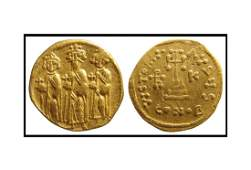 A nice Byzantine gold Solidus of Heraclius