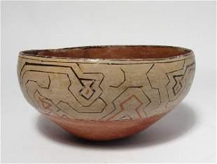 A lovely Shipibo ceramic bowl, mid-20th Century