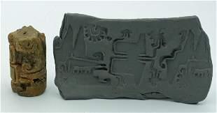 A rare Chorrera sello (roller stamp) from Ecuador
