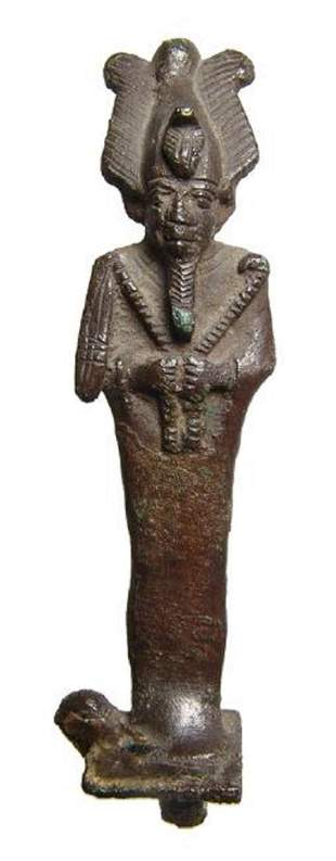 Wonderfully detailed Egyptian bronze figure of Osiris