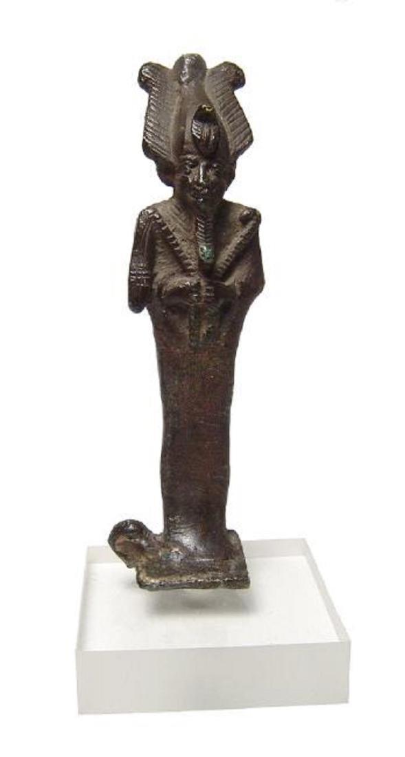 Wonderfully detailed Egyptian bronze figure of Osiris - 3