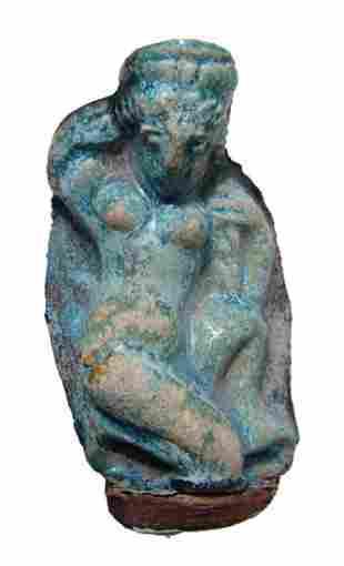 Egyptian blue glazed figure of Aphrodite, Roman