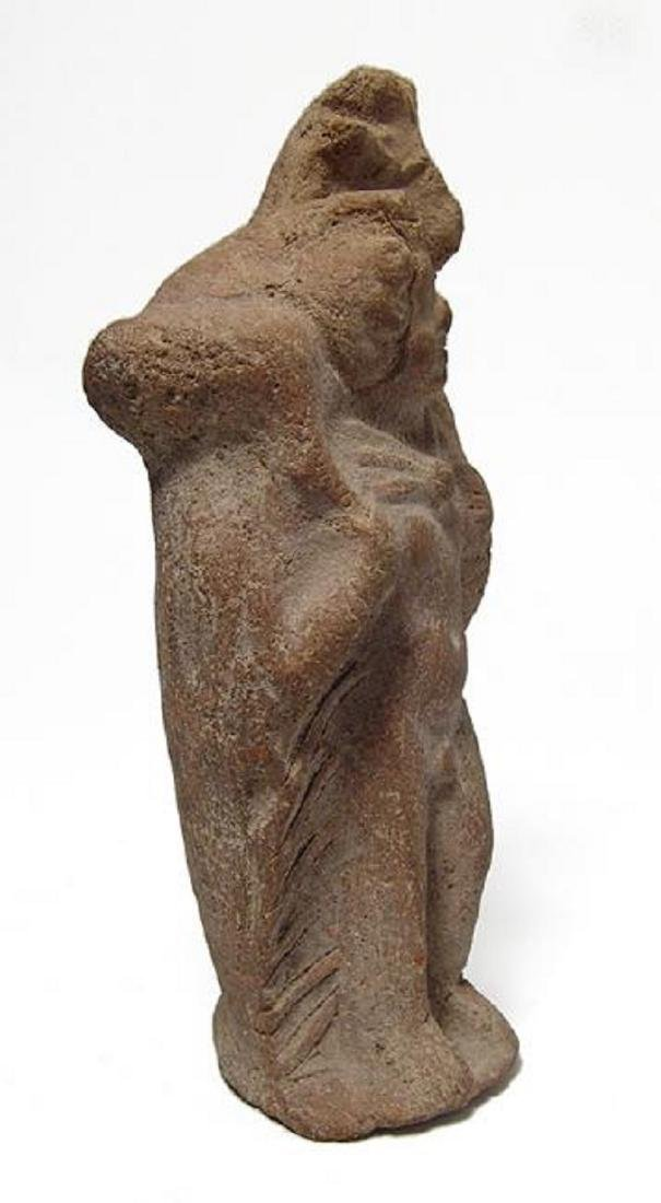 Romano-Egyptian terracotta figure of Pan with goat - 3