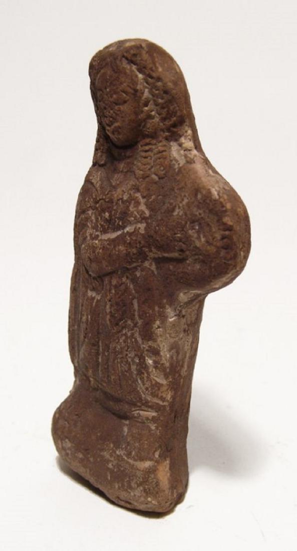 Roman terracotta figure of a robed woman, Egypt - 2