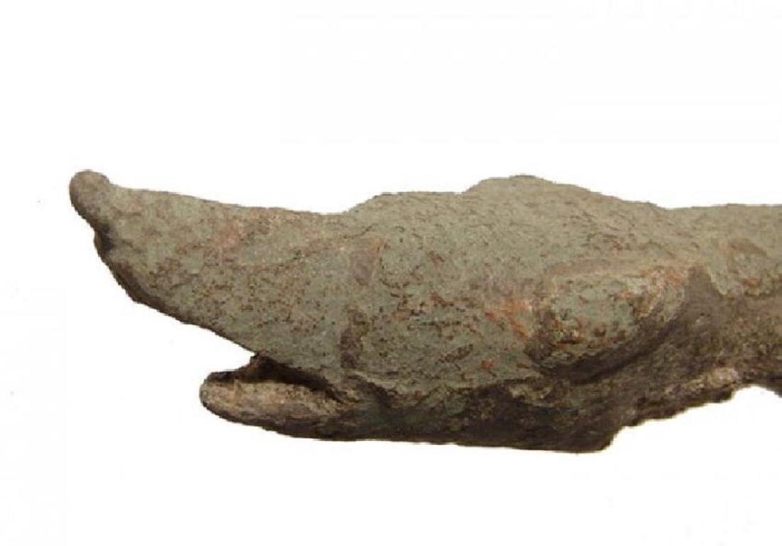 A Roman bronze patera handle - 2