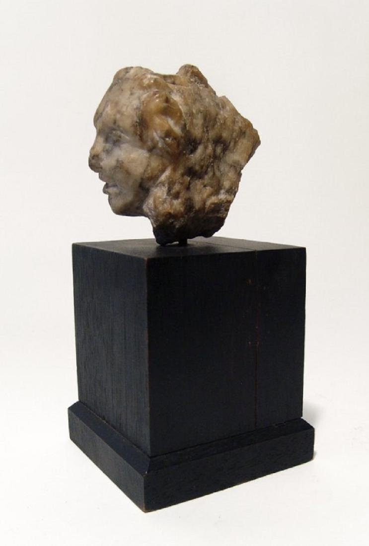 A Roman marble head of a woman - 4