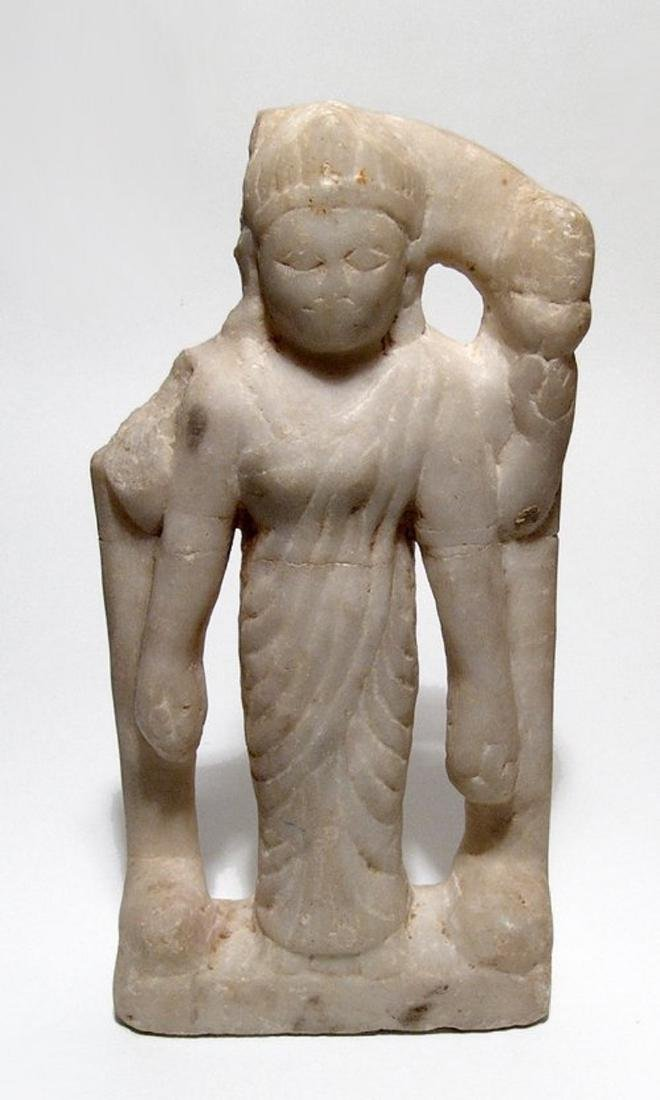 Attractive marble figure of a four-armed Hindu deity
