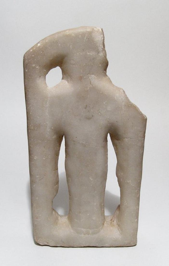 Attractive marble figure of a four-armed Hindu deity - 2