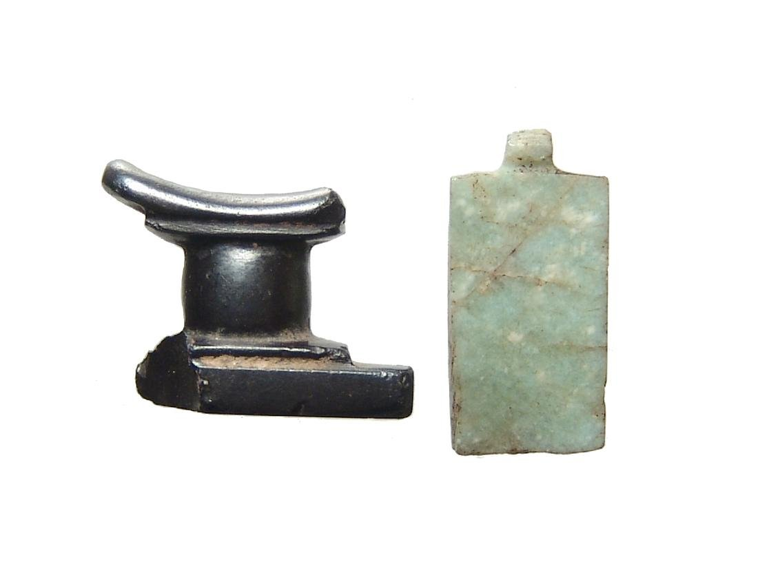 A pair of Egyptian stone amulets, Late Period - 2