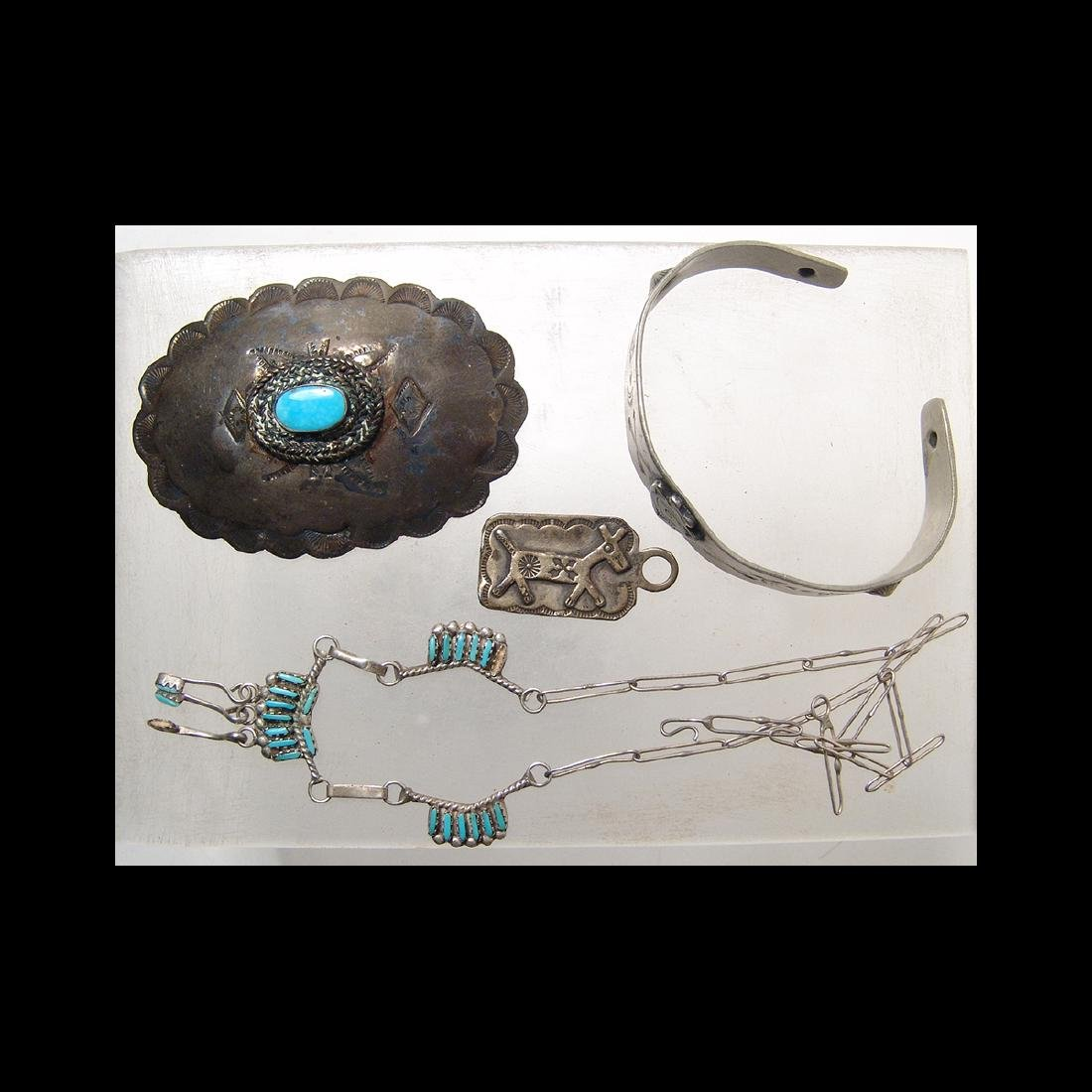 Group of lovely antique Native American silver jewelry