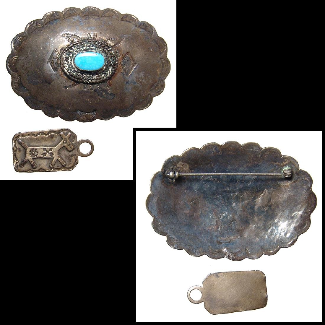 Group of lovely antique Native American silver jewelry - 2