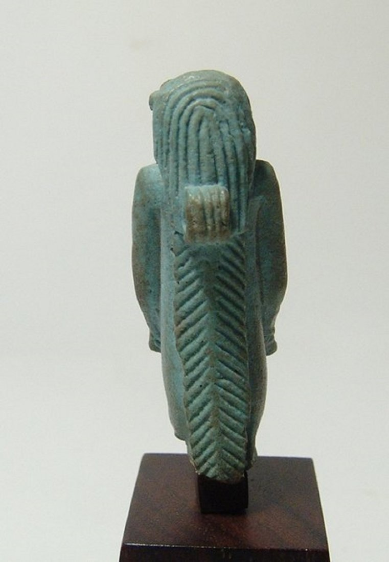 Stunning Egyptian faience amulet of the goddess Taweret - 5