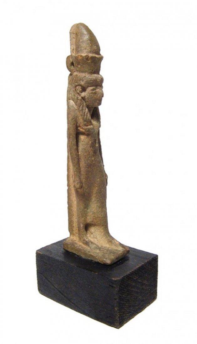 A beautiful Egyptian faience amulet of the goddess Mut