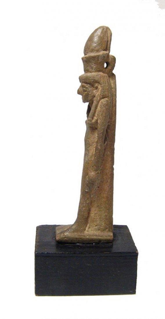 A beautiful Egyptian faience amulet of the goddess Mut - 3