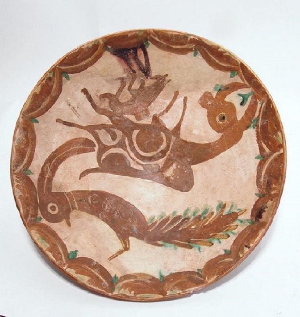 A large and vibrant Nishapur ceramic bowl