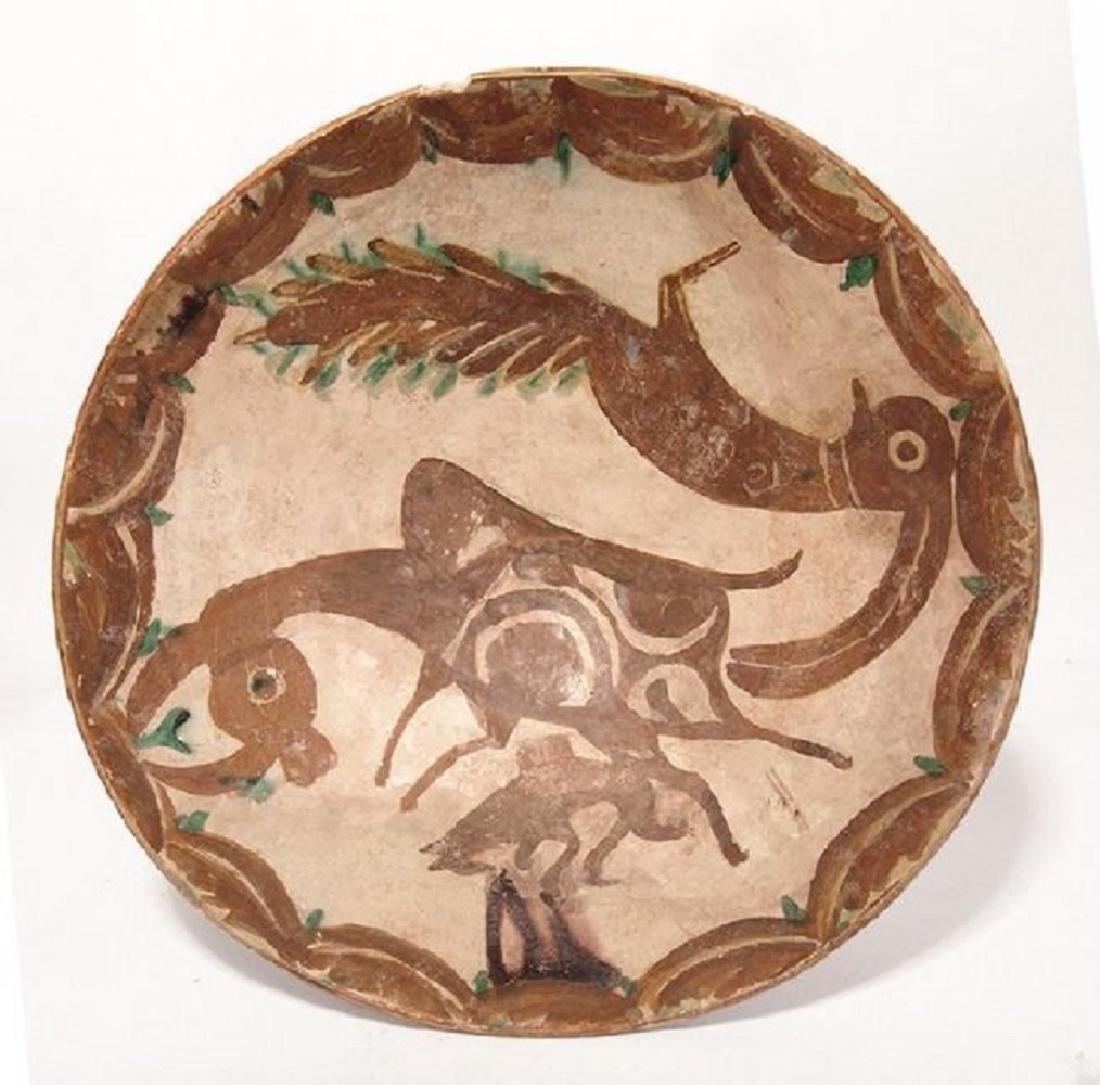 A large and vibrant Nishapur ceramic bowl - 2
