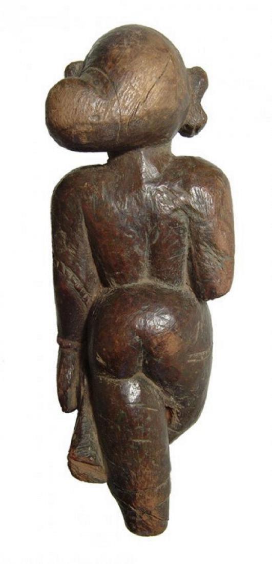 An Indian wooden figure of a Yaksha - 3