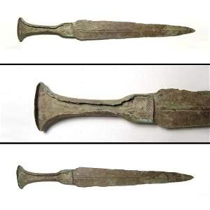 A large Near Eastern bronze dagger