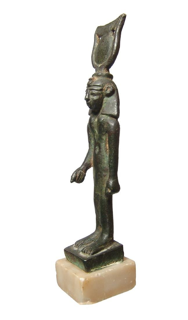 Important Egyptian bronze figure of Khonsu, Late Period - 2