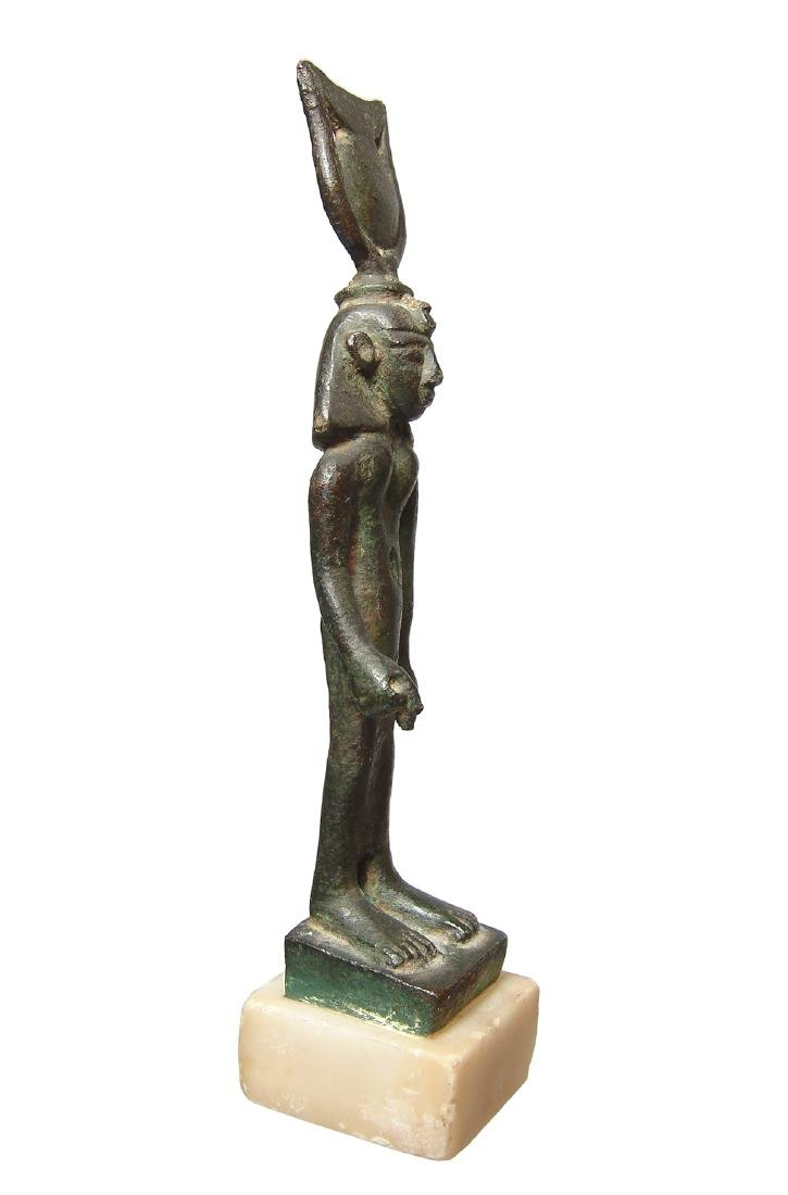 Important Egyptian bronze figure of Khonsu, Late Period - 4