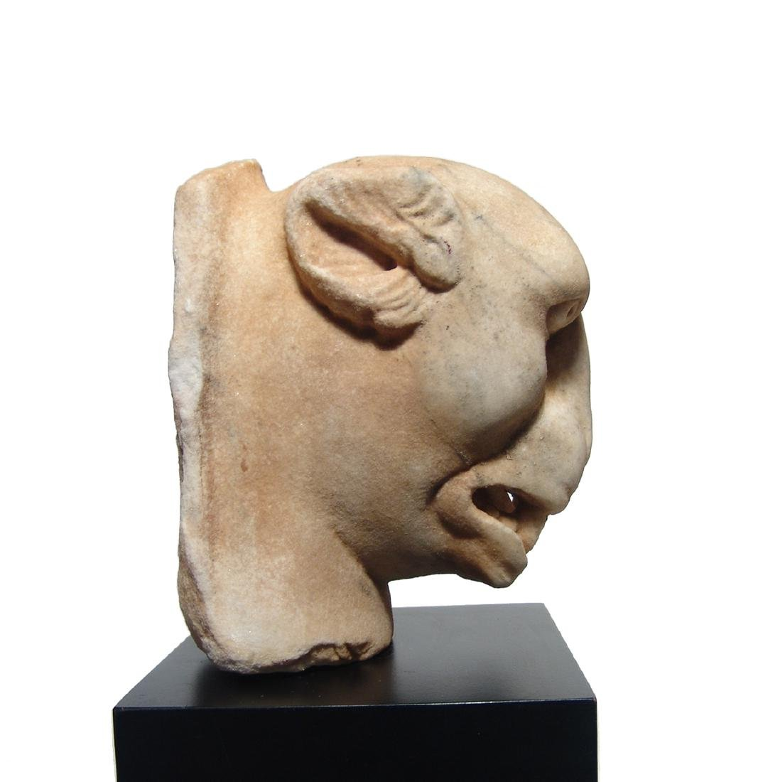 A stunning Roman marble head of a panther - 4