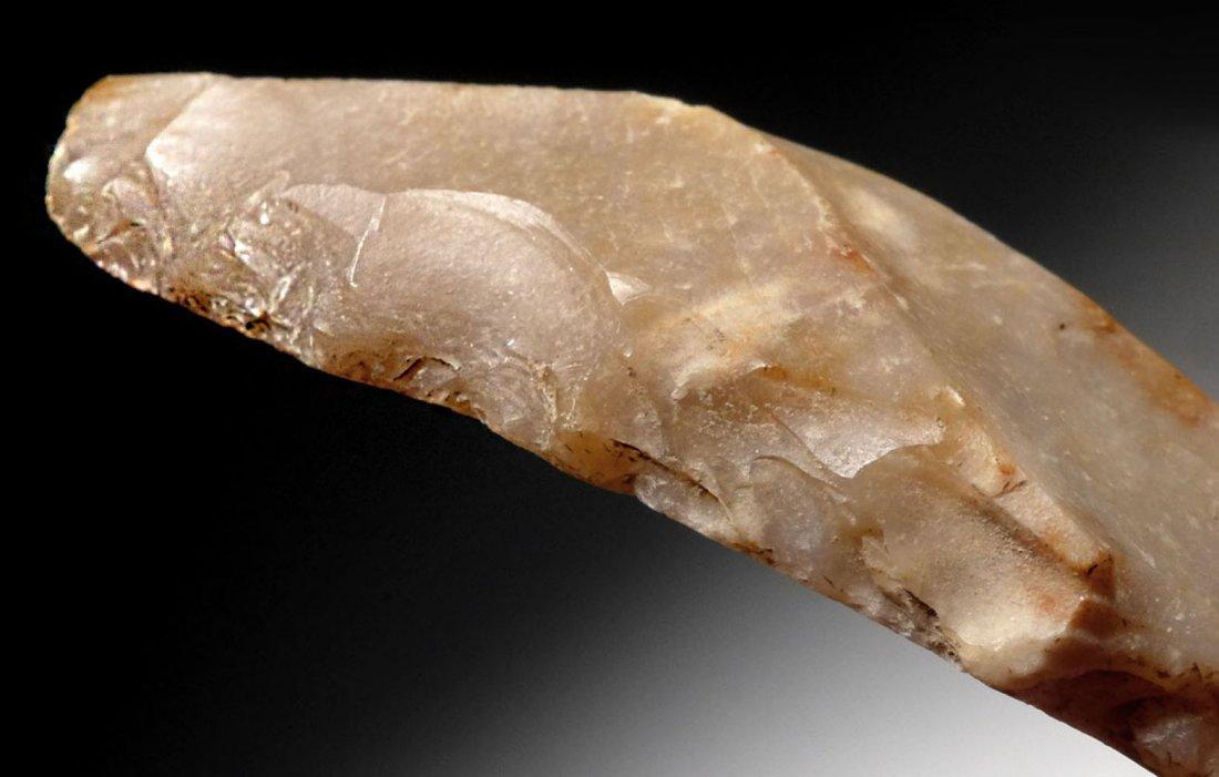 Large French European Neolithic flint borer flake tool - 4