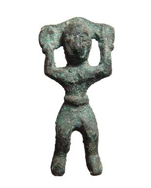 A Western Asian bronze adorant, Caspian Region