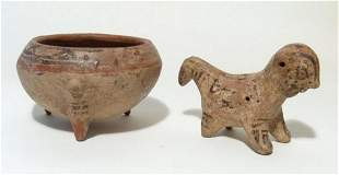 A pair of Chiriqui/Diquis objects from Costa Rica