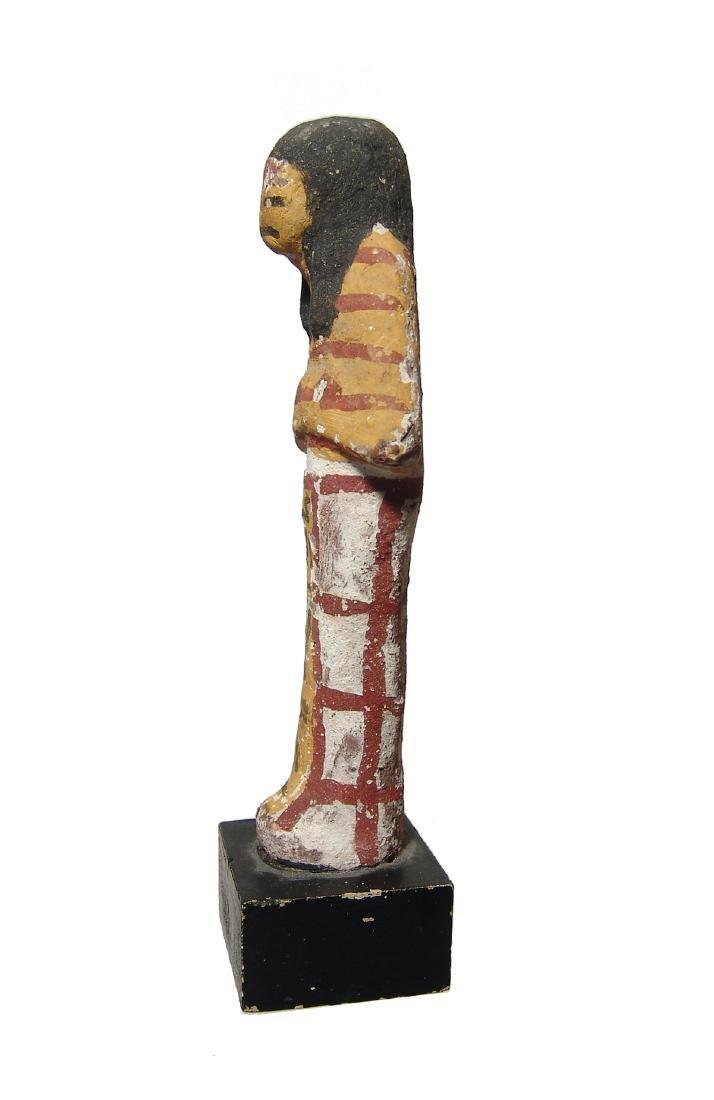 An Egyptian terracotta painted ushabti, New Kingdom - 3